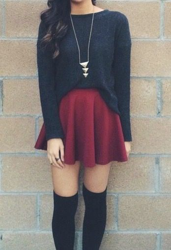 cute school girl outfits
