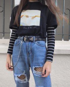 Grunge aesthetic fashion